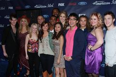 American Idol Season 11 Top 13 Finalists at the American Idol Season 11 Finalists Party, The Grove, Los Angeles, CA 03-01-12. American Idol Season 11 Top 13 Royalty Free Stock Photography