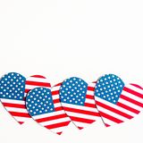 American Independence day background with blue, white and red mixed stars and hearts. Celebration of American independence day, th. E 4th of July the Fourth of royalty free stock images