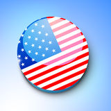American Independence Day background or concept.. 4th of July, American Independence Day shiny badge in national flag colors Royalty Free Stock Photo
