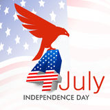 American Independence Day background or concept.. Stock Photo