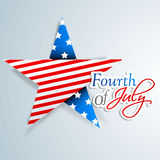 American Independence Day background or concept.. 4th of July, American Independence Day background with star in national flag colors Stock Photography
