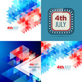American independence day background. Vector set of american independence day background illustration with creative pattern Royalty Free Stock Photo