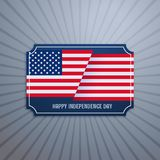 American independence day badge Stock Image