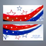 American independence day banners set Royalty Free Stock Photo