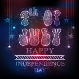 American Independence Day with beautiful illustration. Stock Photos