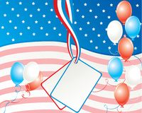 American independence day card Royalty Free Stock Photo