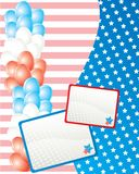 American independence day card Stock Images