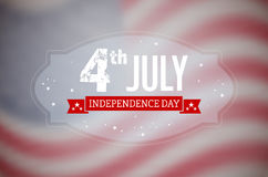 American Independence Day card. American 4th July Independence Day card with blurred USA flag - vector illustration Royalty Free Stock Photos