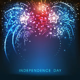 American Independence Day celebration background with fireworks. Royalty Free Stock Photo