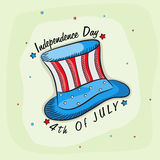 American Independence Day celebration with creative hat. Stock Photos