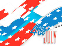 American Independence Day celebration with creative illustration Royalty Free Stock Photography