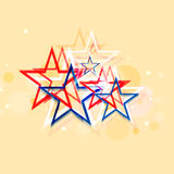 American Independence Day celebration with creative stars. Royalty Free Stock Photography