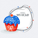 American Independence Day celebration with cupcake. Royalty Free Stock Photos