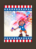 American Independence Day celebration with cute boy. Stock Images
