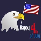 American independence day celebration with eagle and flag eps10 Royalty Free Stock Photo