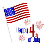 American independence day celebration with flag eps10. American independence day celebration with flag Royalty Free Stock Photos