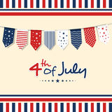 American Independence Day celebration greeting card. Royalty Free Stock Images