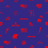 American independence day celebration icons seamless pattern Royalty Free Stock Images