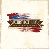 American Independence Day celebration poster, or banner design. Stock Photo
