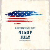 American Independence Day celebration poster, or banner design. Royalty Free Stock Images
