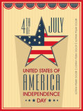 American Independence Day celebration poster, banner or flyer. Royalty Free Stock Photos