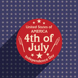 American Independence Day celebration sticker, tag or label. Royalty Free Stock Photo