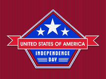 American Independence Day celebration sticker, tag or label. Royalty Free Stock Photos