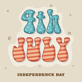 American Independence Day celebration with stylish text. Stock Image