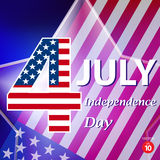 American Independence Day. Celebratory background with banner and stars Royalty Free Stock Image