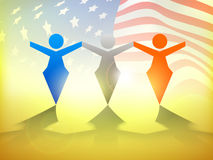 American Independence Day concept. Fourth of July, American Independence Day concept with waving flag Stock Image
