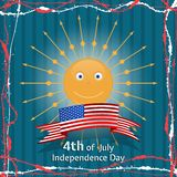 American Independence Day Concept. Made in vector Royalty Free Stock Photos