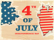 American Independence Day with creative illustration. Stock Photos