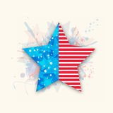 American Independence Day with creative star. Royalty Free Stock Photos