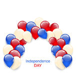American Independence Day Decoration. Illustration American Independence Day Decoration with Colored Balloons - Vector Royalty Free Stock Images