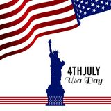 American Independence day design card vector royalty free illustration