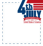 American independence day design. Fourth of July patriotic banner. Stock Image