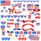 American Independence Day Element Stock Photos