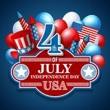 American Independence Day. Festive vector Stock Images