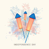 American Independence Day with firecrackers. Royalty Free Stock Images