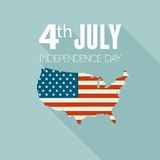 American Independence Day. Flat design Royalty Free Stock Image