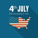 American Independence Day. Flat design Stock Photos