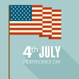 American Independence Day. Flat design Royalty Free Stock Photo