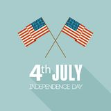 American Independence Day. Flat design Royalty Free Stock Photos