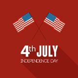 American Independence Day. Flat design Royalty Free Stock Images