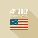 American Independence Day. Flat design Royalty Free Stock Photography