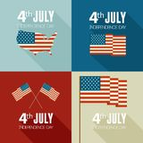 American Independence Day. Flat design Stock Photo