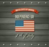 American Independence Day. Flat design Stock Photos