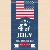 American Independence Day flyer or template. Stock Photos