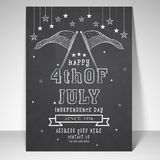 American Independence Day flyer or template. Royalty Free Stock Photos