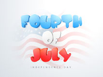 American Independence Day with glossy text. Royalty Free Stock Images